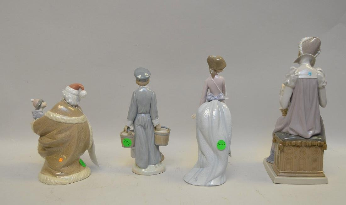Lot of FOUR Lladro Spain Porcelain Sculptures: (1) - 7