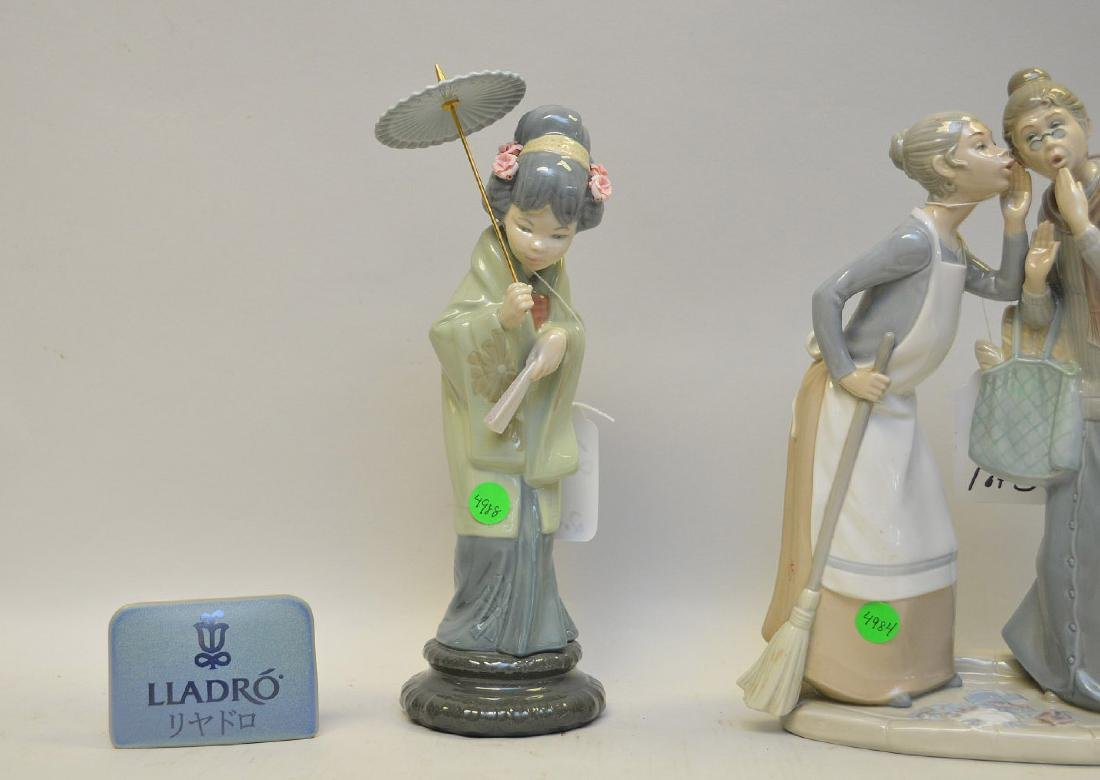 Lot of THREE Lladro Spain Porcelain Sculptures: (1) - 3