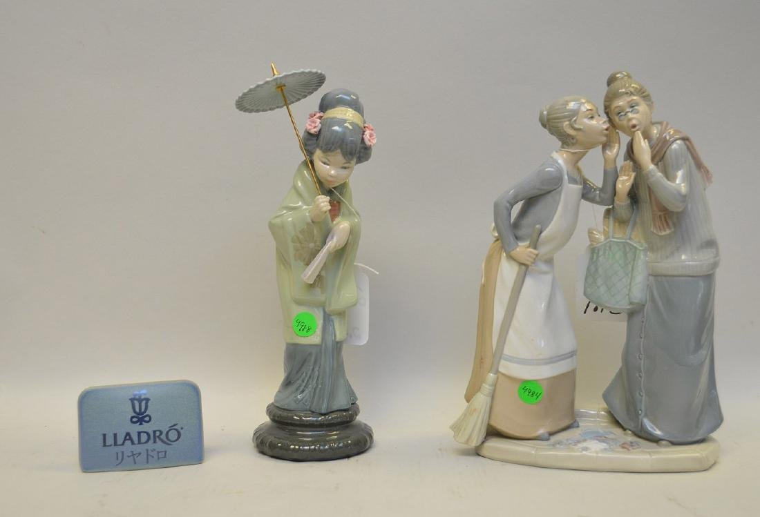 Lot of THREE Lladro Spain Porcelain Sculptures: (1) - 5