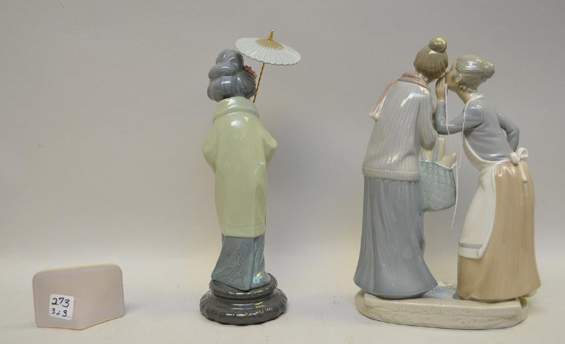 Lot of THREE Lladro Spain Porcelain Sculptures: (1) - 8