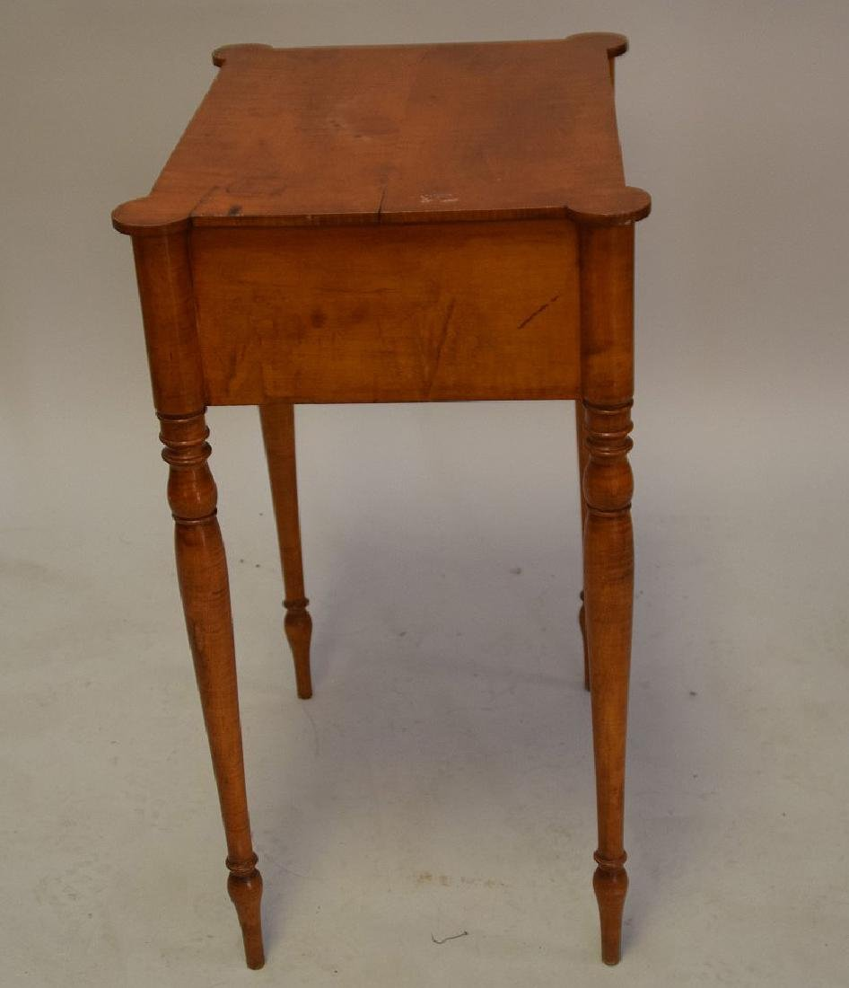 EARLY AMERICAN TIGER MAPLE TWO-DRAWER TABLE - - 4