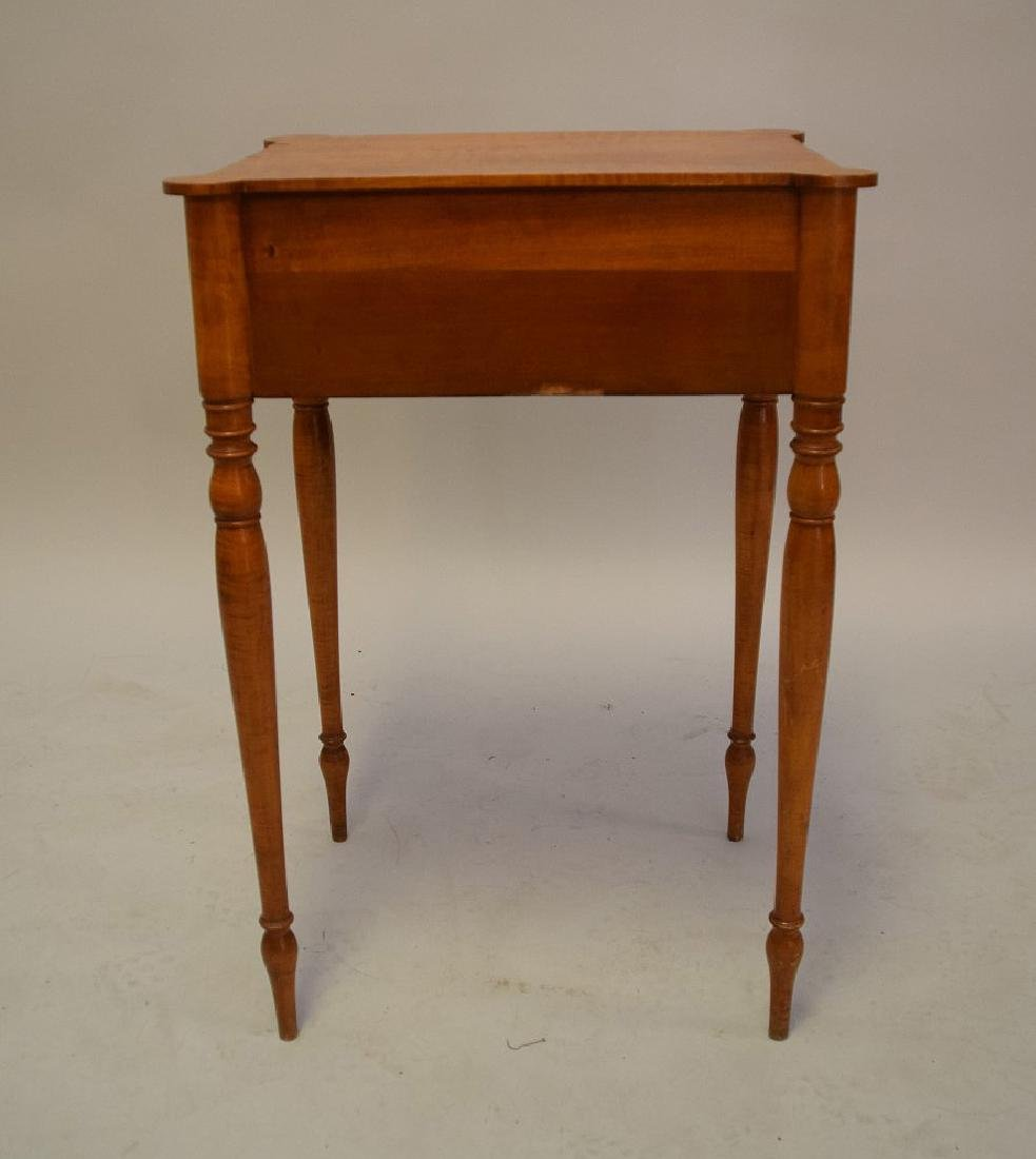 EARLY AMERICAN TIGER MAPLE TWO-DRAWER TABLE - - 5