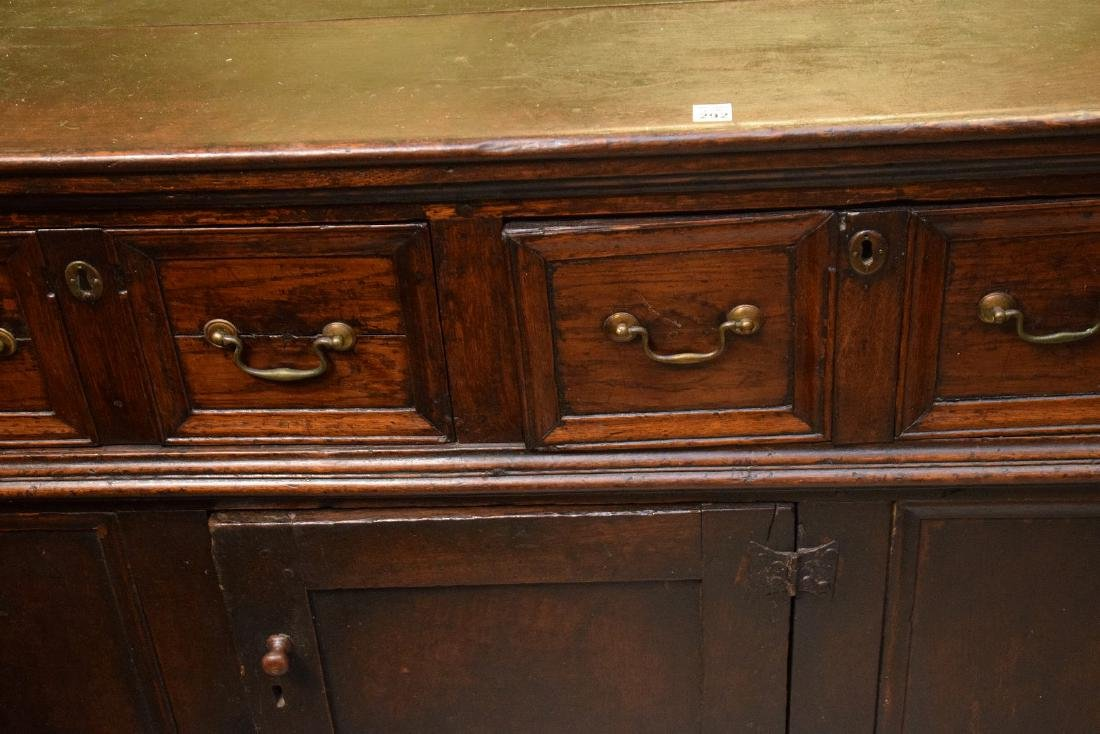 EARLY ENGLISH OAK CUPBOARD with four drawers over one - 10