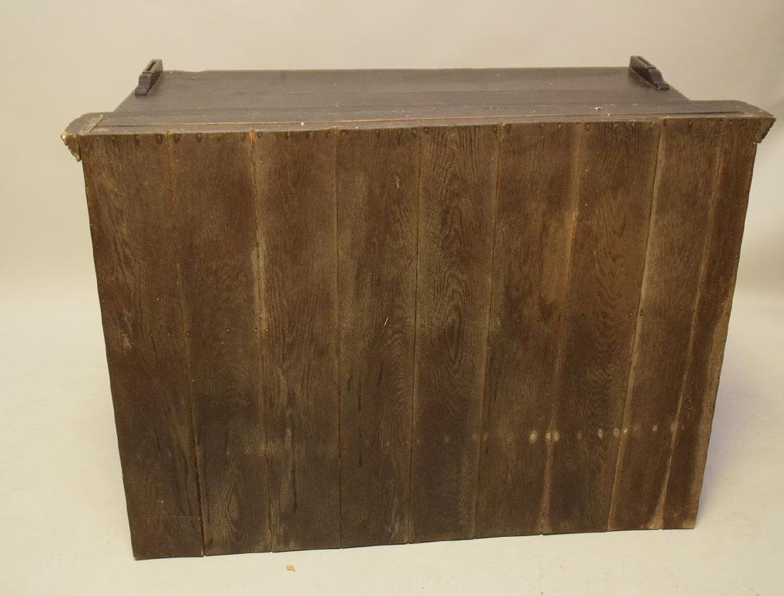 EARLY ENGLISH OAK CUPBOARD with four drawers over one - 8