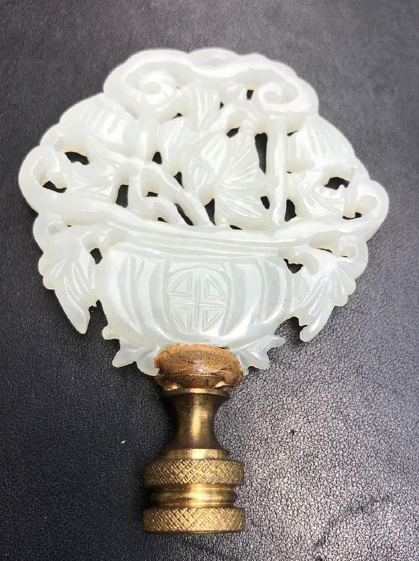 TWO CHINESE CARVED JADE ARTICLES.  1 Jade Medallion - 6