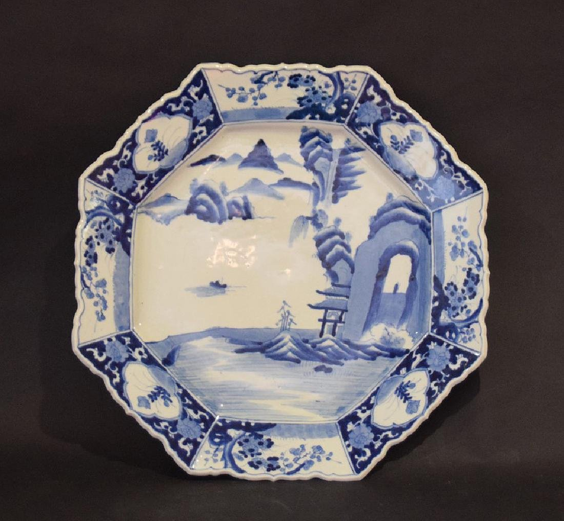 EARLY CHINESE PORCELAIN OCTAGONAL CHARGER.  Condition: - 2
