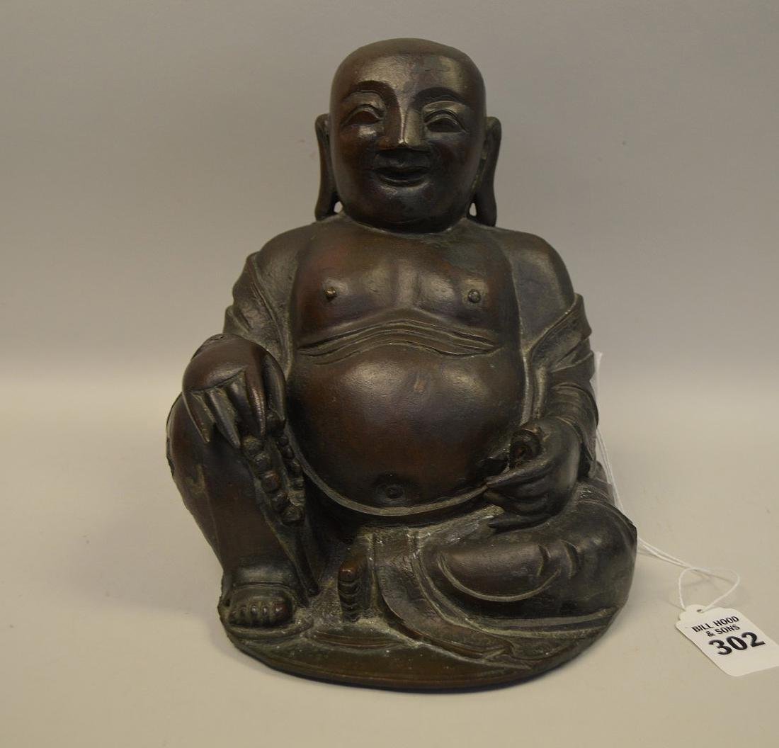 EARLY CHINESE BRONZE BUDDHA.  Condition: minor