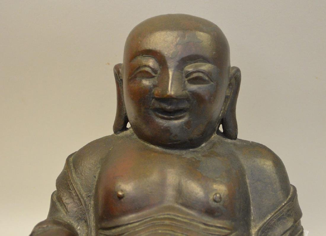 EARLY CHINESE BRONZE BUDDHA.  Condition: minor - 2