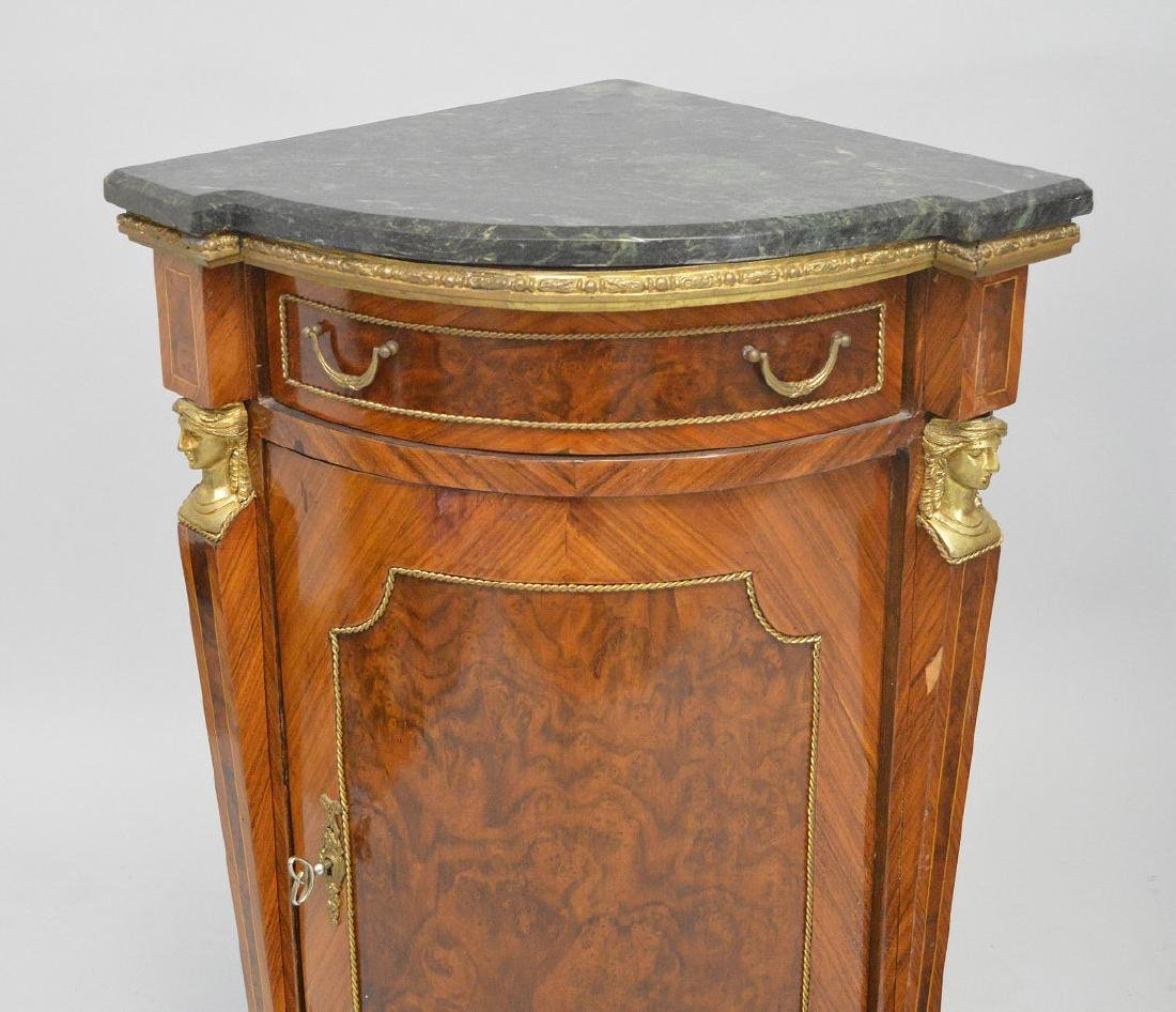 Pair of French Empire-Style Corner Cabinets - 2