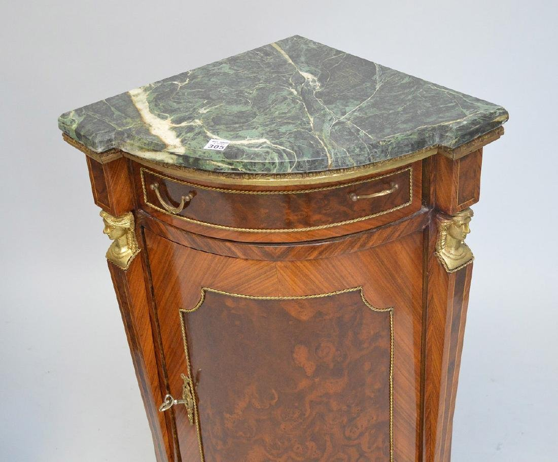 Pair of French Empire-Style Corner Cabinets - 5