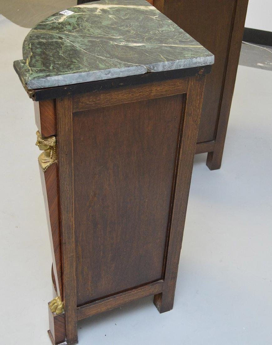 Pair of French Empire-Style Corner Cabinets - 6