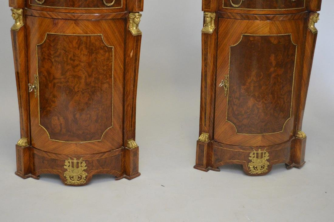 Pair of French Empire-Style Corner Cabinets - 7