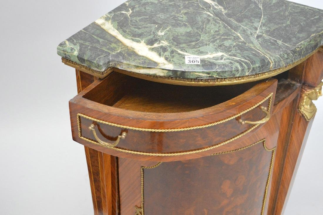 Pair of French Empire-Style Corner Cabinets - 8