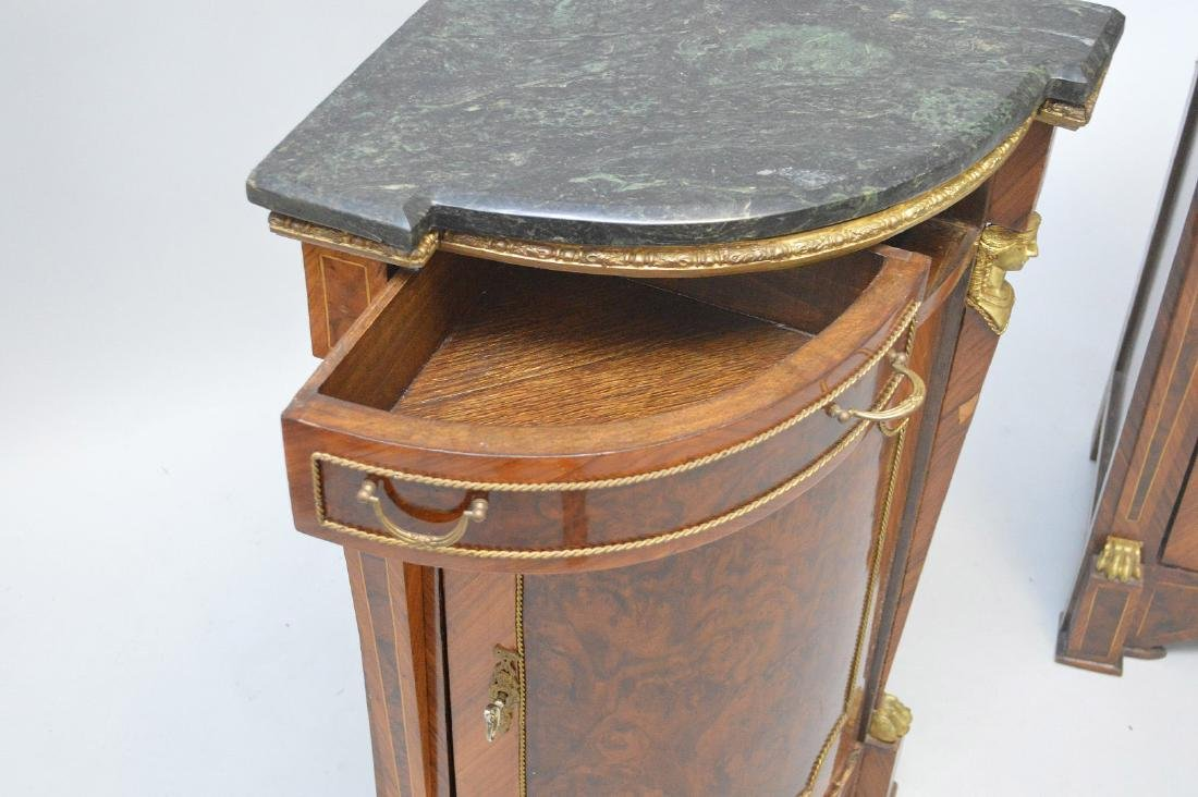 Pair of French Empire-Style Corner Cabinets - 9