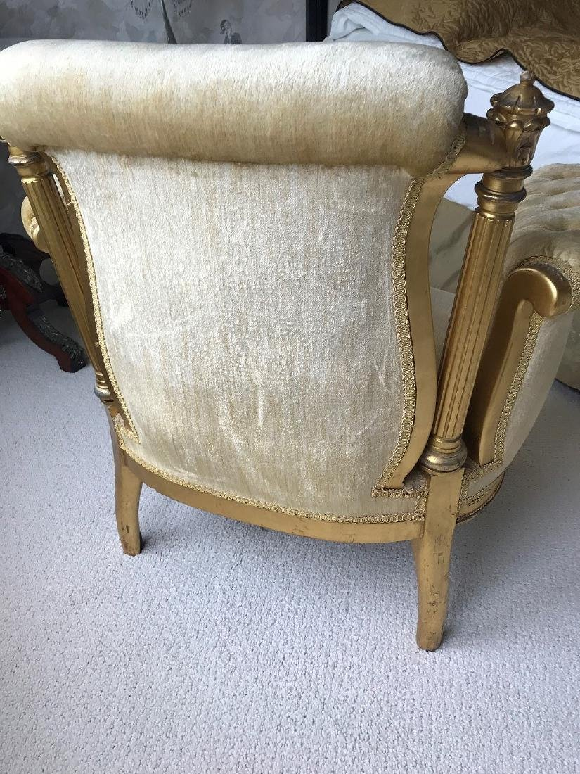 19th Century Carved Giltwood and Gold Velveteen - 6
