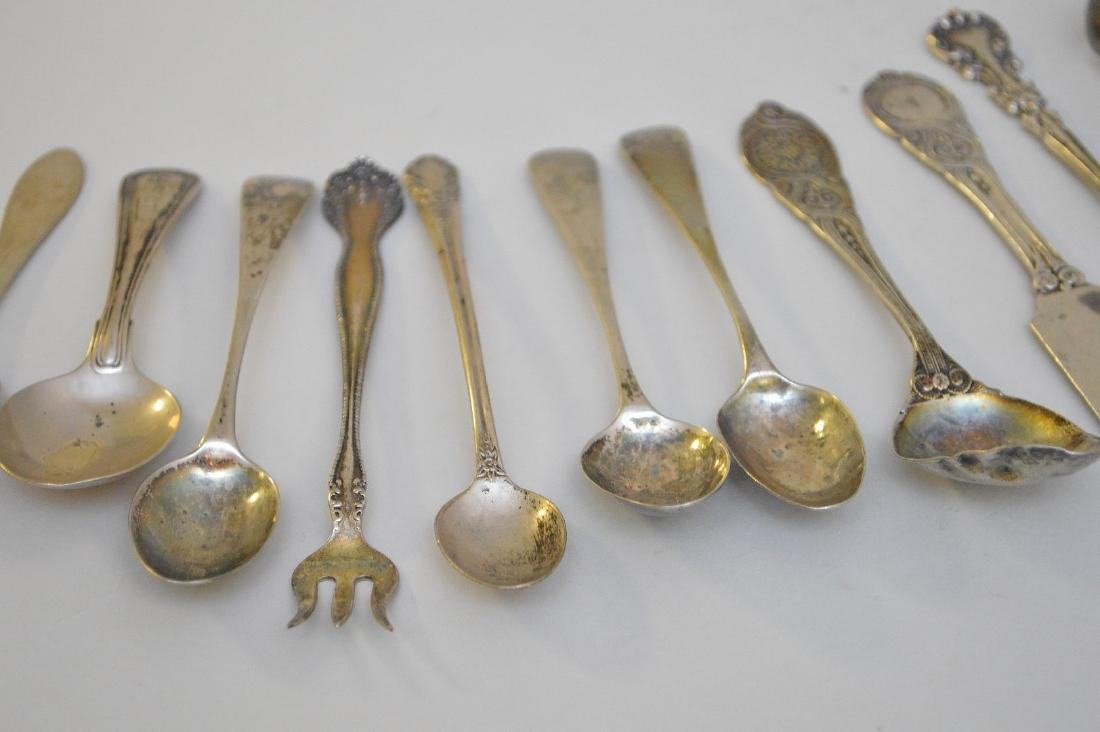LOT OF 12 ASSORTED STERLING & COIN SILVER UTENSILS - - 2