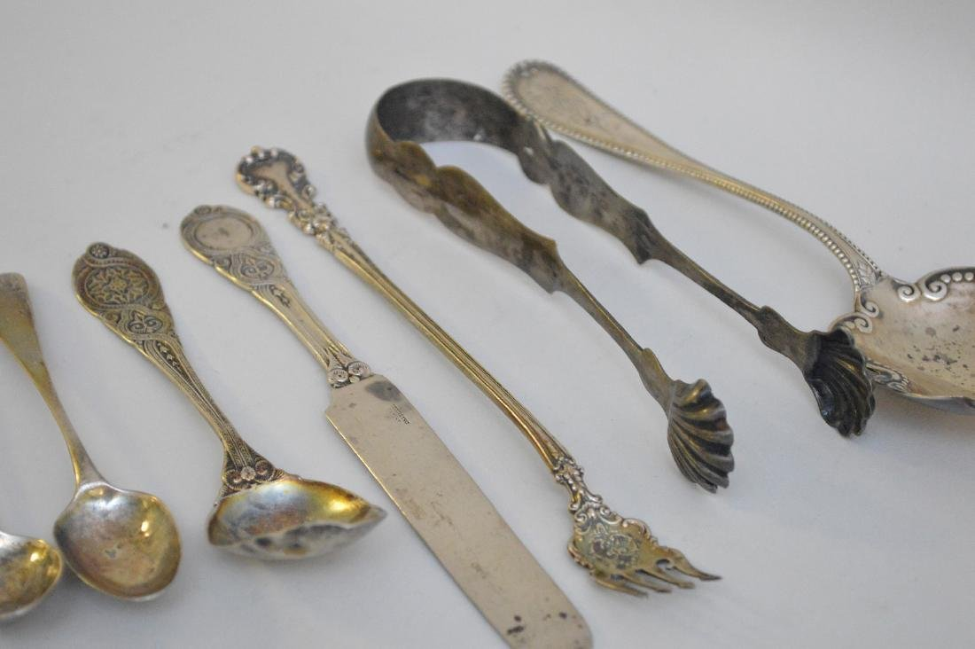 LOT OF 12 ASSORTED STERLING & COIN SILVER UTENSILS - - 3