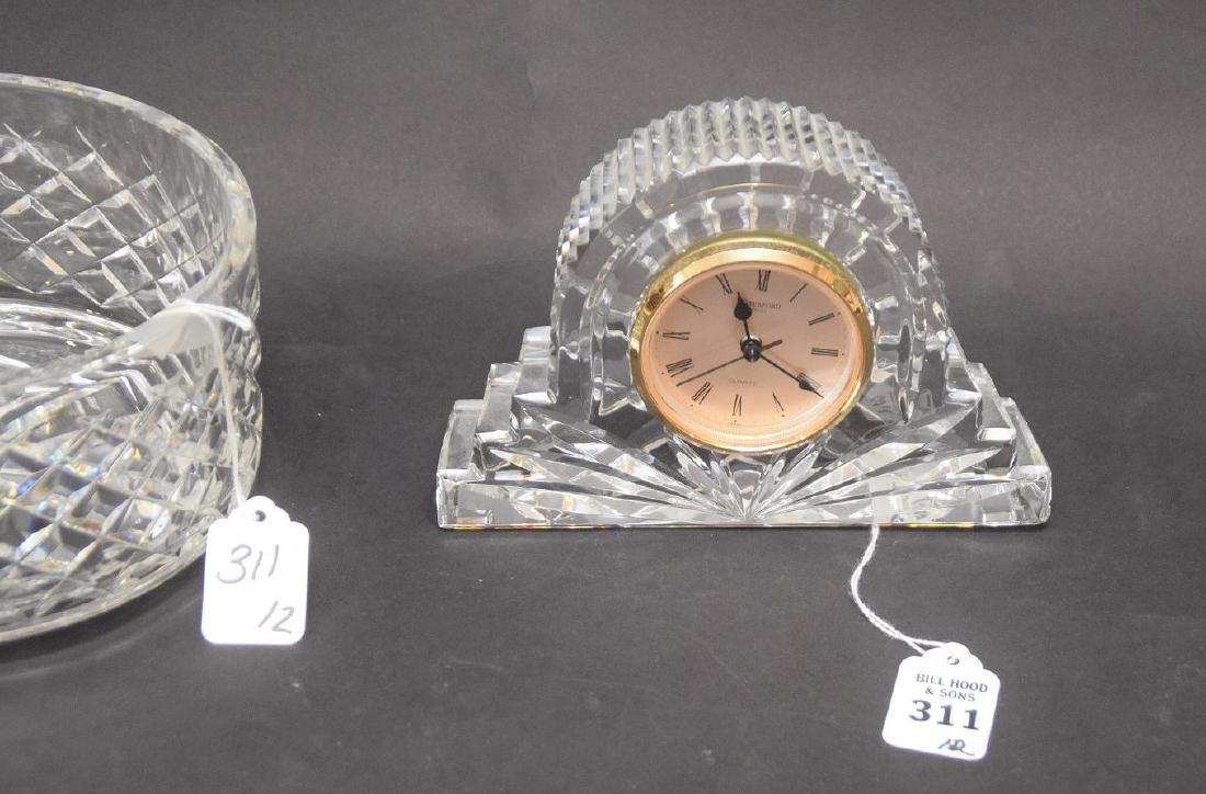 WATERFORD CRYSTAL BOWL & CLOCK - Alana Pattern Bowl 3 - 3