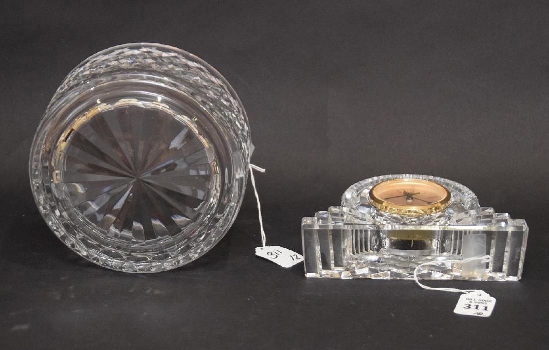 WATERFORD CRYSTAL BOWL & CLOCK - Alana Pattern Bowl 3 - 4