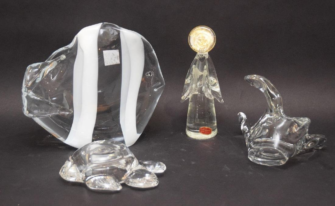 4 glass pieces, Murano fish, bird candy dish, Murano - 3