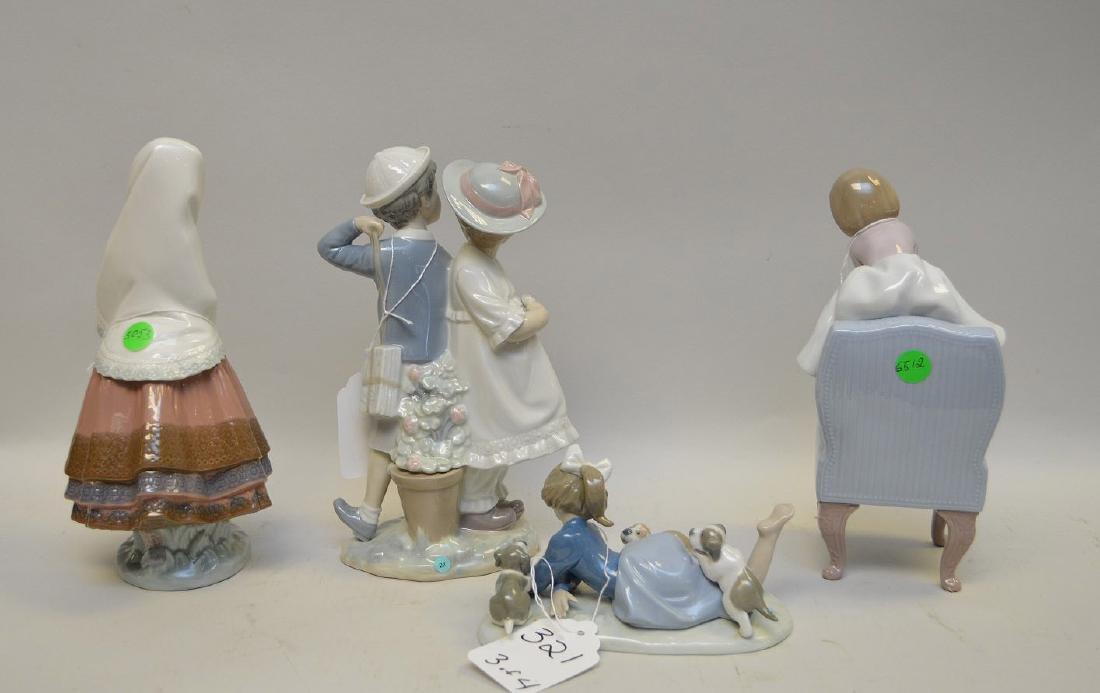 Lot of FOUR Lladro Spain Porcelain Sculptures: (1) - 6