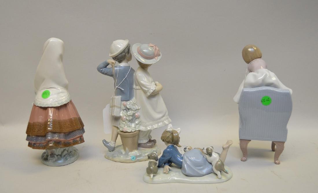 Lot of FOUR Lladro Spain Porcelain Sculptures: (1) - 7