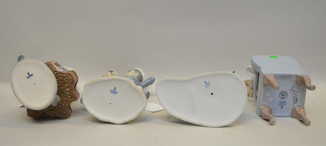 Lot of FOUR Lladro Spain Porcelain Sculptures: (1) - 8