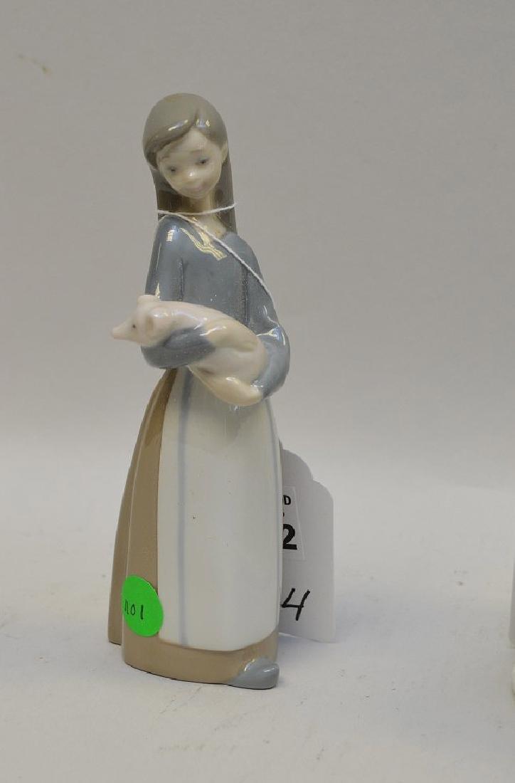 Lot of FOUR Lladro Spain Porcelain Sculptures: (1) - 2