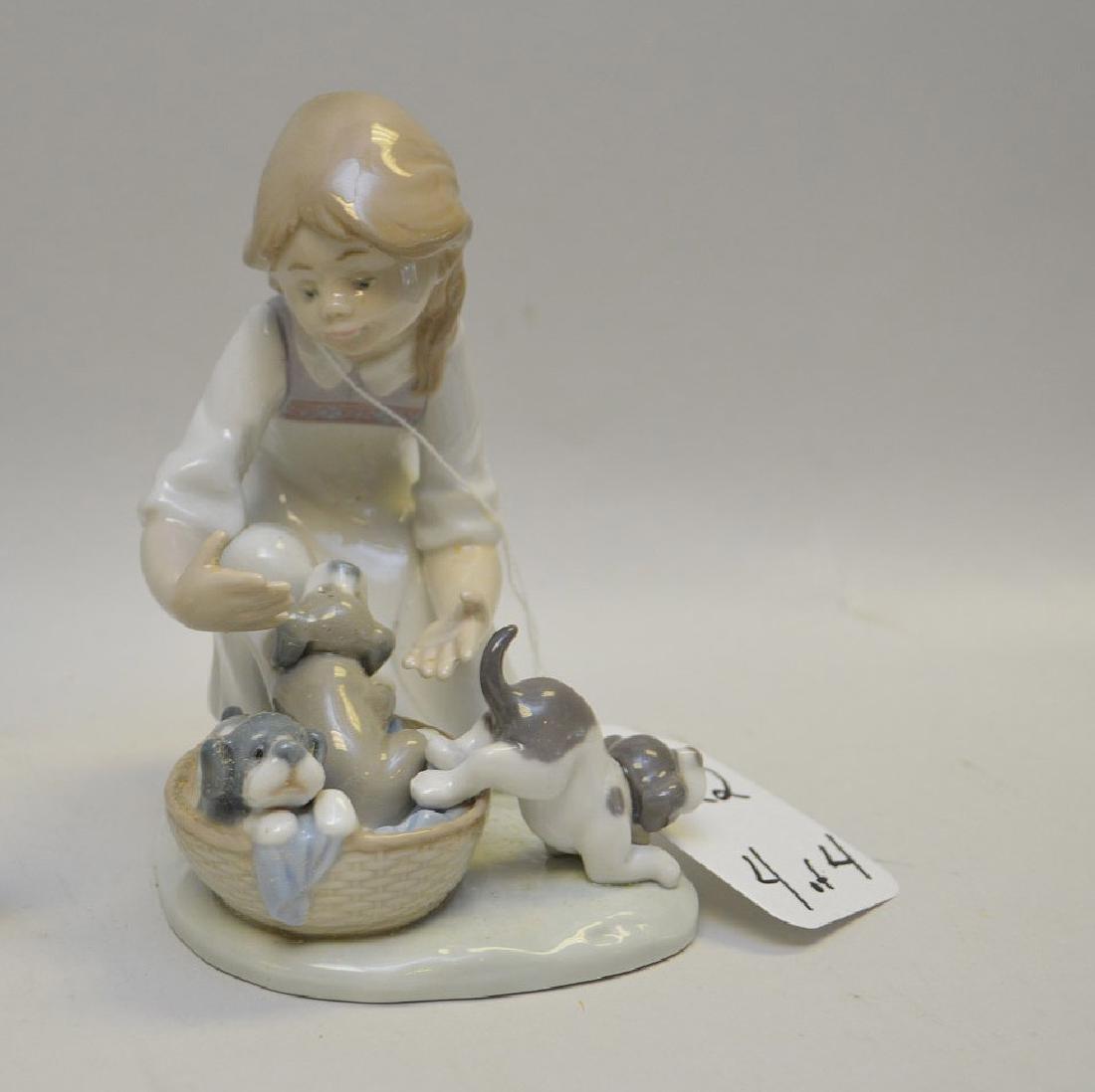 Lot of FOUR Lladro Spain Porcelain Sculptures: (1) - 5