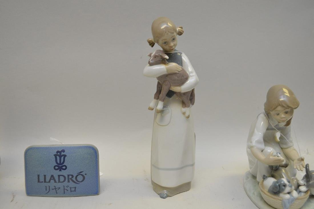 Lot of FIVE Lladro Spain Porcelain Sculptures: (1)#1127; - 9