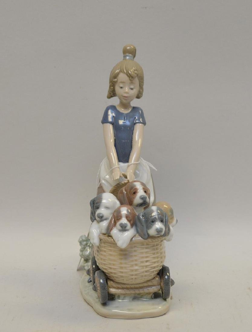 Lot of FIVE Lladro Spain Porcelain Sculptures: (1)#1127; - 3