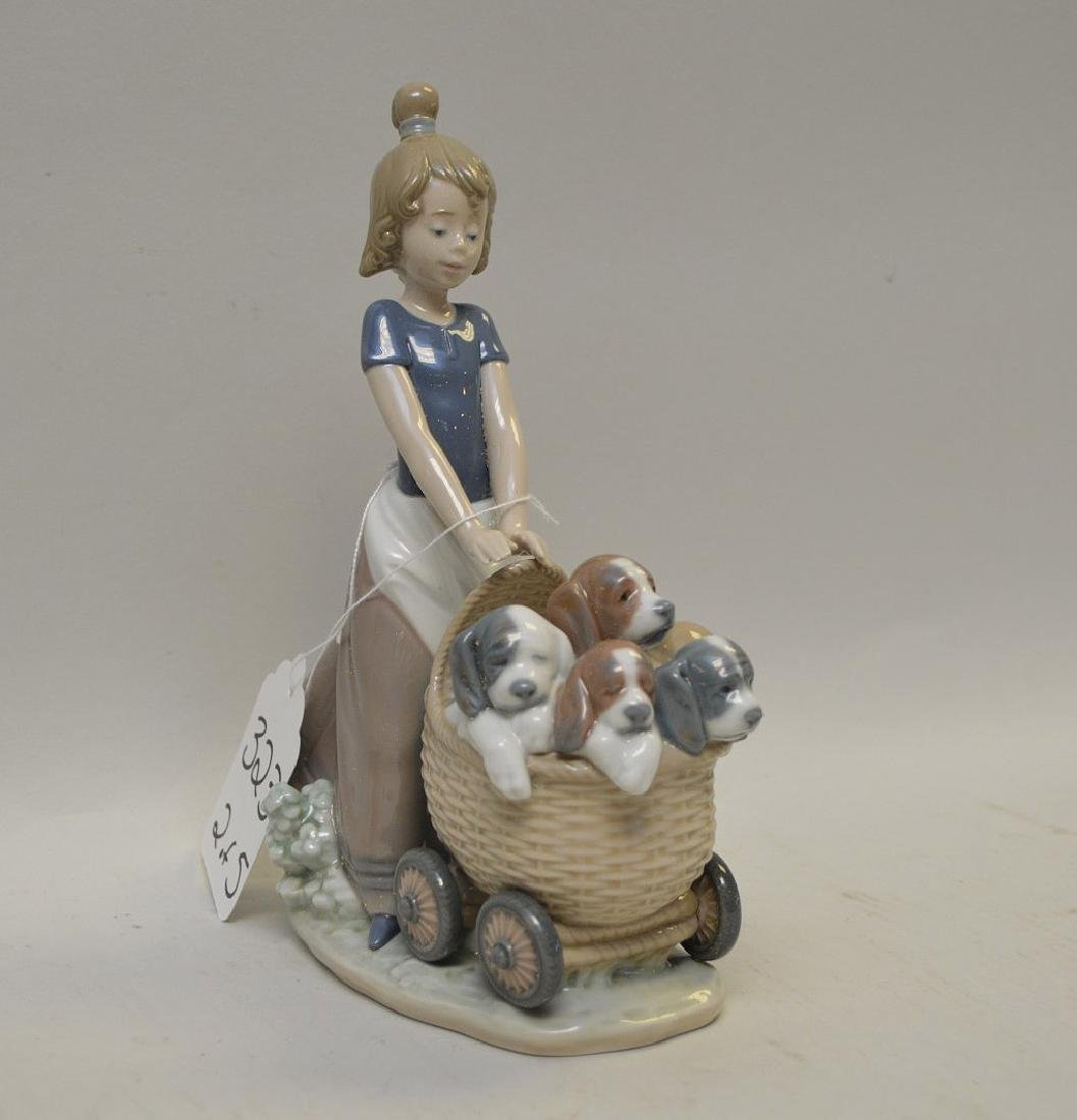 Lot of FIVE Lladro Spain Porcelain Sculptures: (1)#1127; - 4