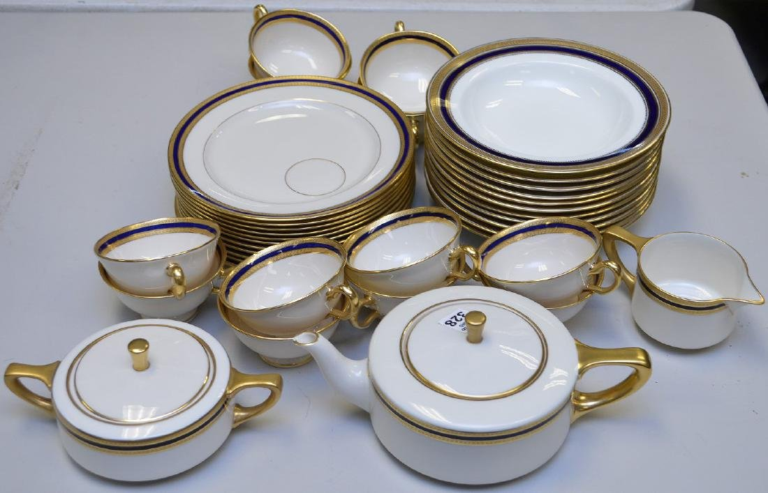 Lenox luncheon set, Marshall Field Chicago, incl; 12