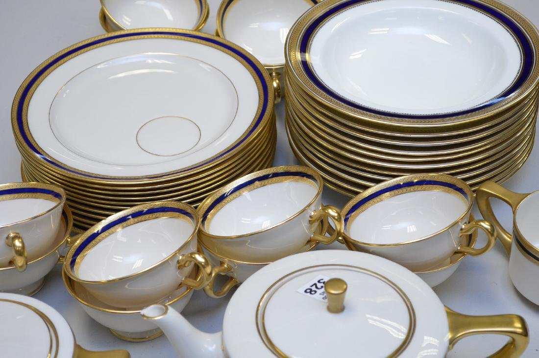 Lenox luncheon set, Marshall Field Chicago, incl; 12 - 2