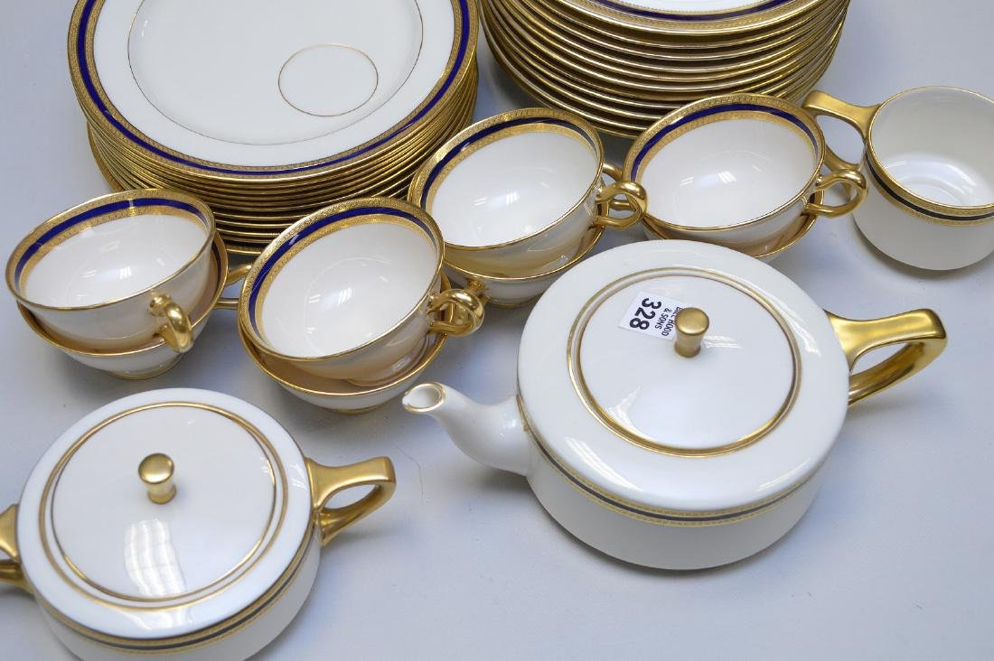 Lenox luncheon set, Marshall Field Chicago, incl; 12 - 3