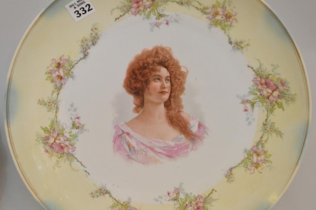 3 portrait plates; pair of French Royal chateau des - 4