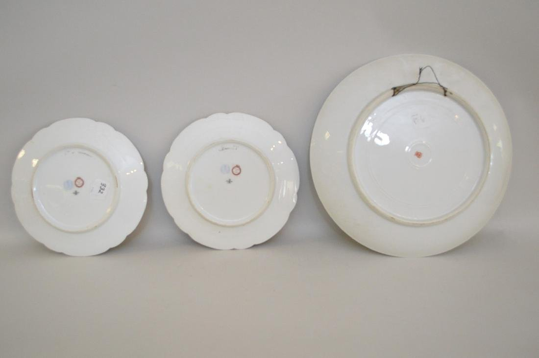 3 portrait plates; pair of French Royal chateau des - 5