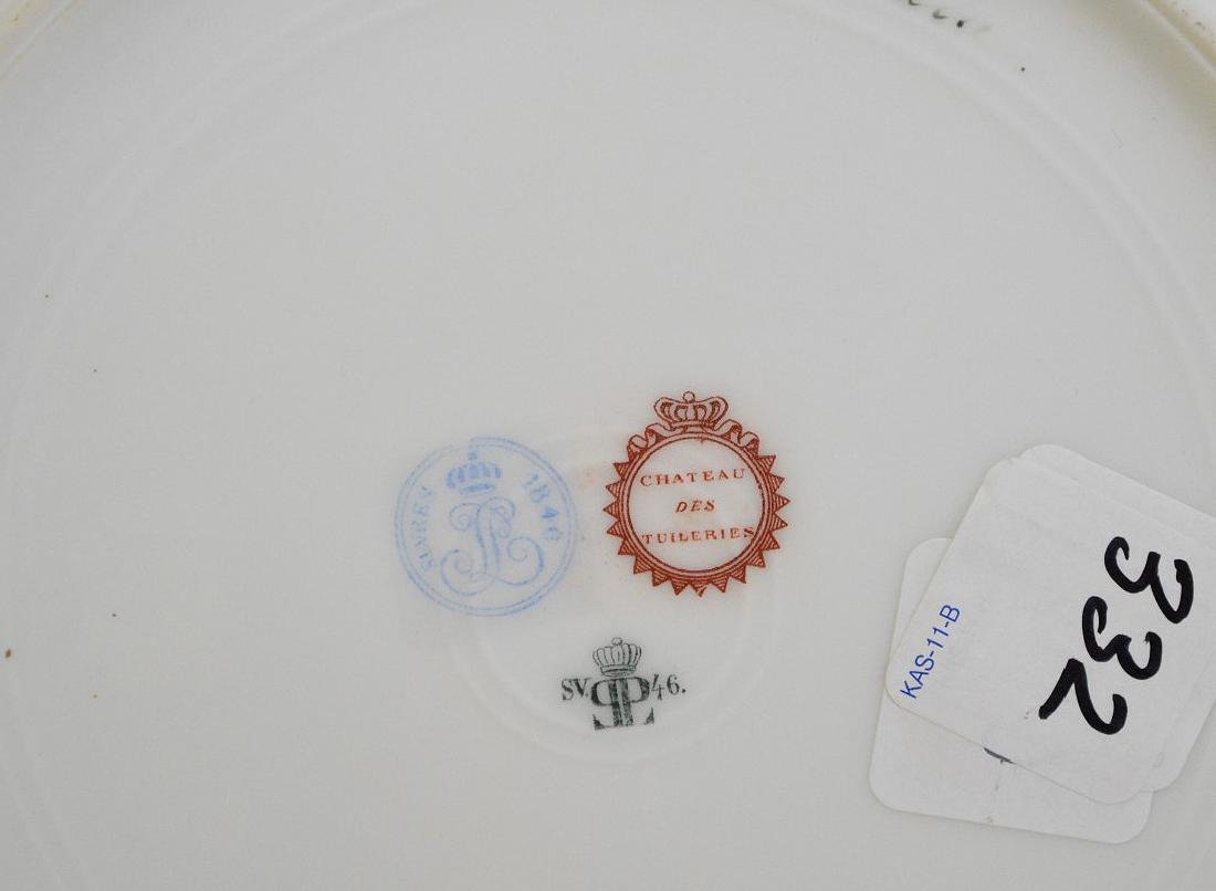 3 portrait plates; pair of French Royal chateau des - 8