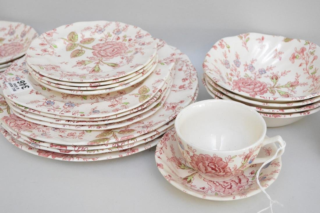"Johnson Bros. ""Rose Chintz"" service for 4, incl; - 2"