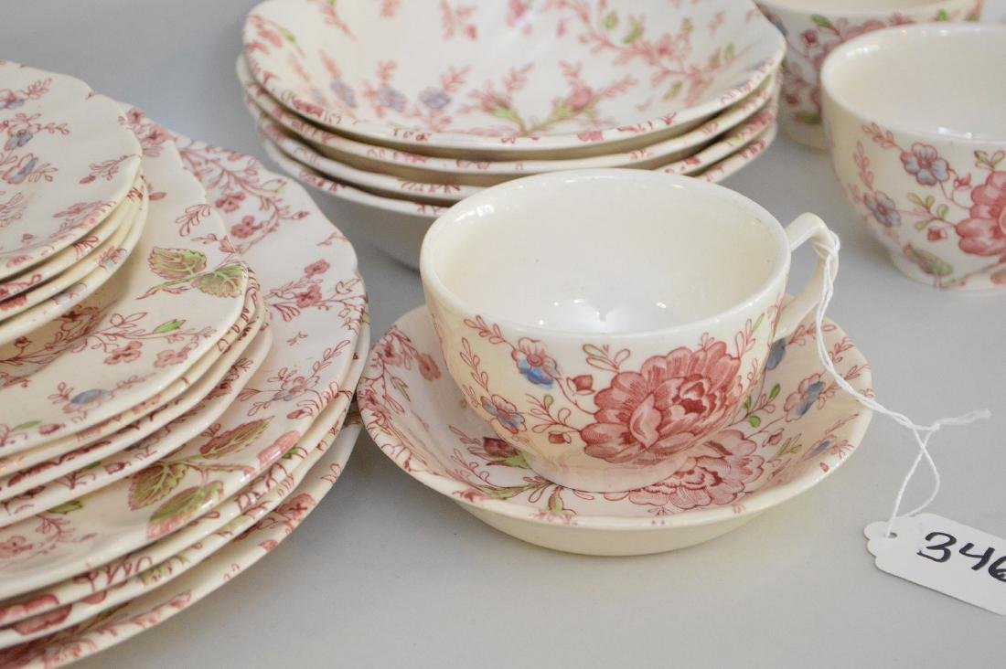 "Johnson Bros. ""Rose Chintz"" service for 4, incl; - 3"
