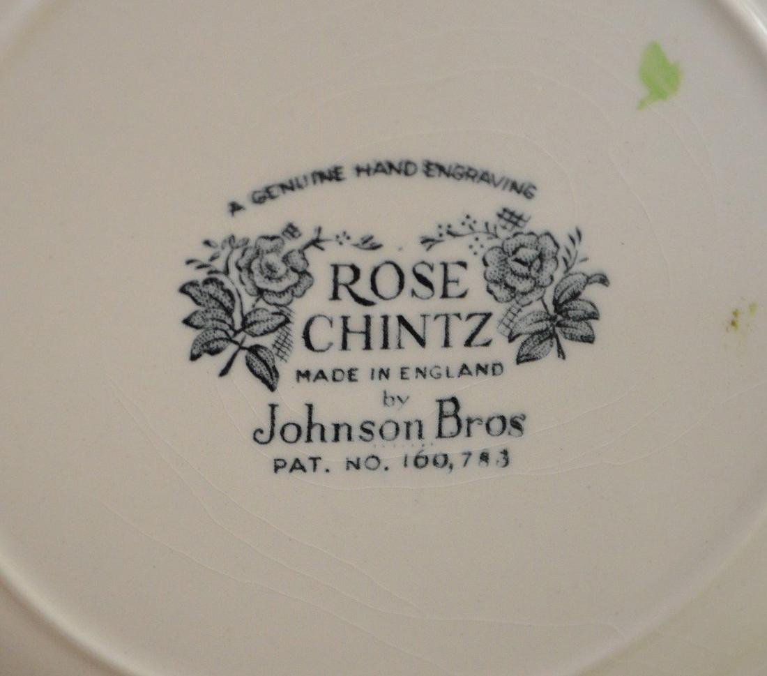 "Johnson Bros. ""Rose Chintz"" service for 4, incl; - 4"