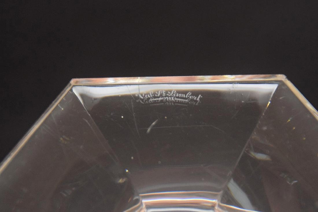 4 Val St. Lambert crystal candlesticks - 4
