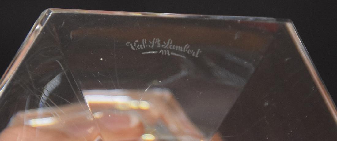 4 Val St. Lambert crystal candlesticks - 5