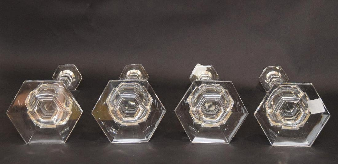4 Val St. Lambert crystal candlesticks - 6