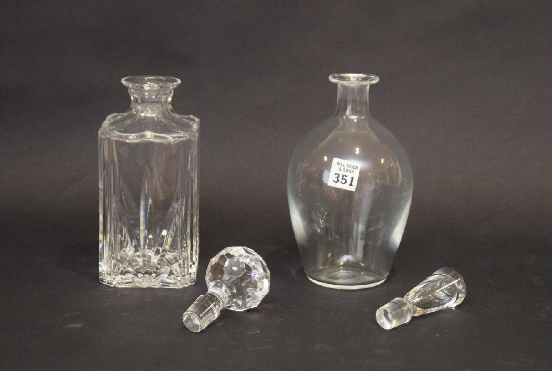 """2 decanters, 1 Waterford and 1 Baccarat, approx. 10""""h - 3"""