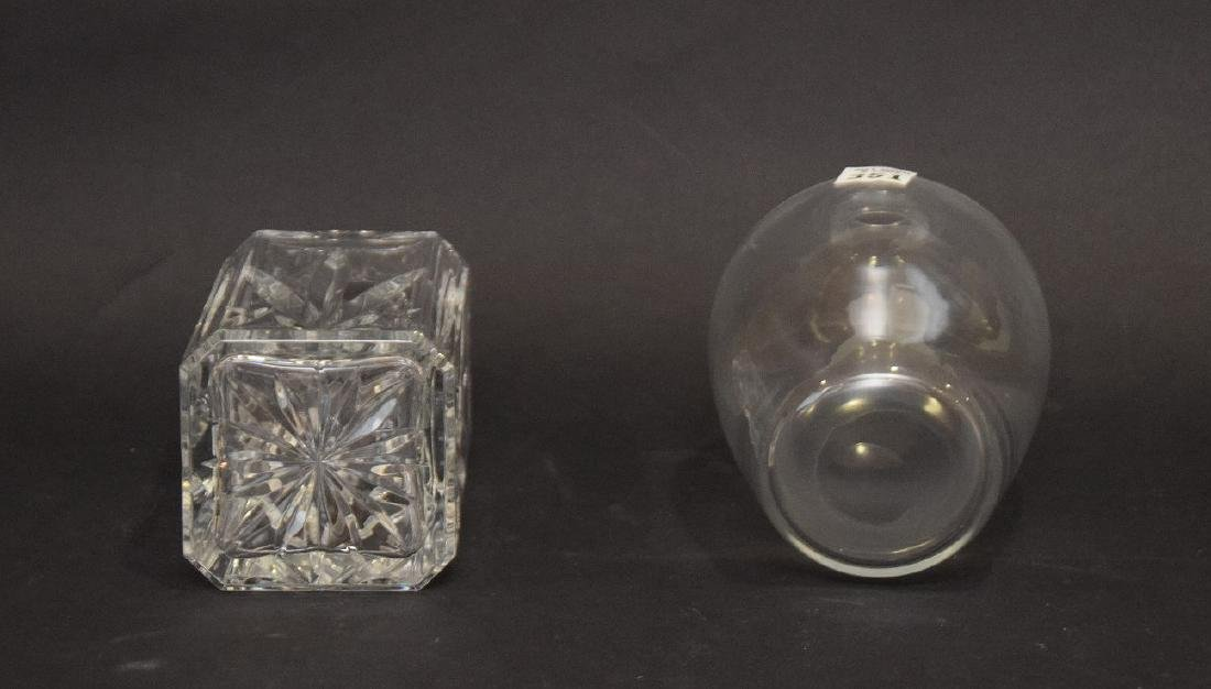 """2 decanters, 1 Waterford and 1 Baccarat, approx. 10""""h - 4"""