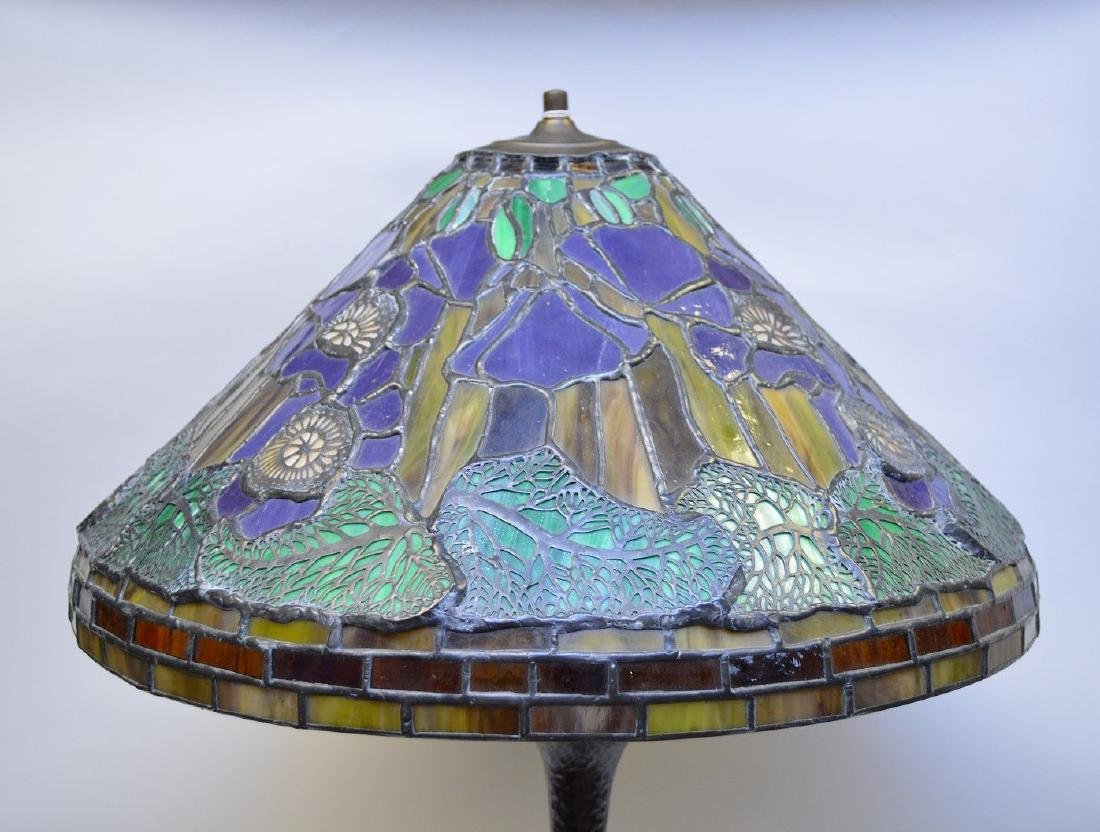 "Art glass table lamp, 28""h - 2"