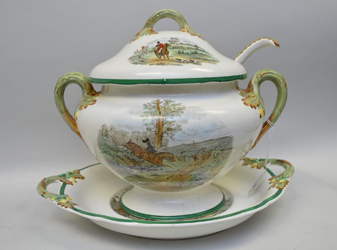 Large Soup Tureen matching above item with liner and
