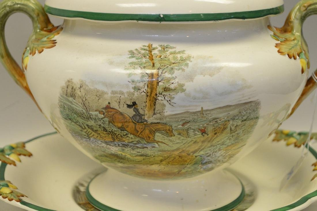 Large Soup Tureen matching above item with liner and - 2