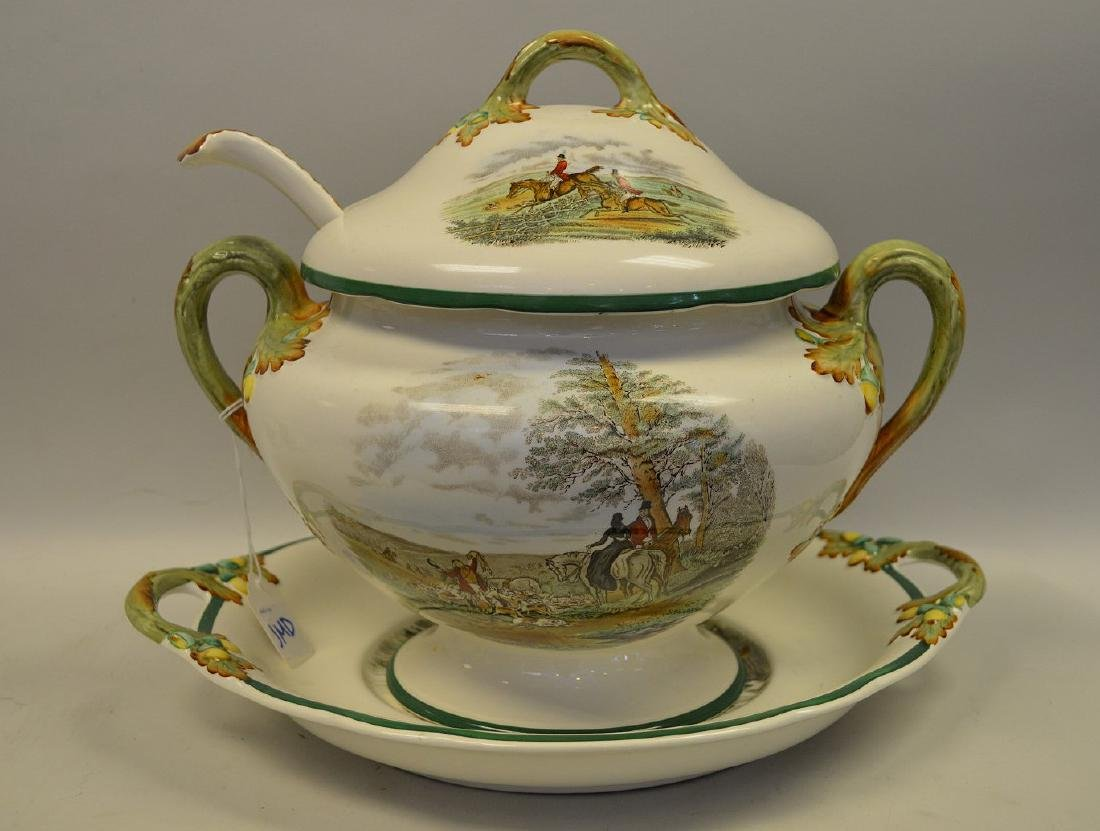 Large Soup Tureen matching above item with liner and - 4